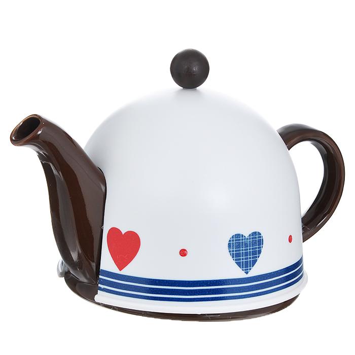 """Чайник заварочный """"Mayer & Boch"""", с термо-колпаком, цвет: коричневый, 500 мл. 21871"""