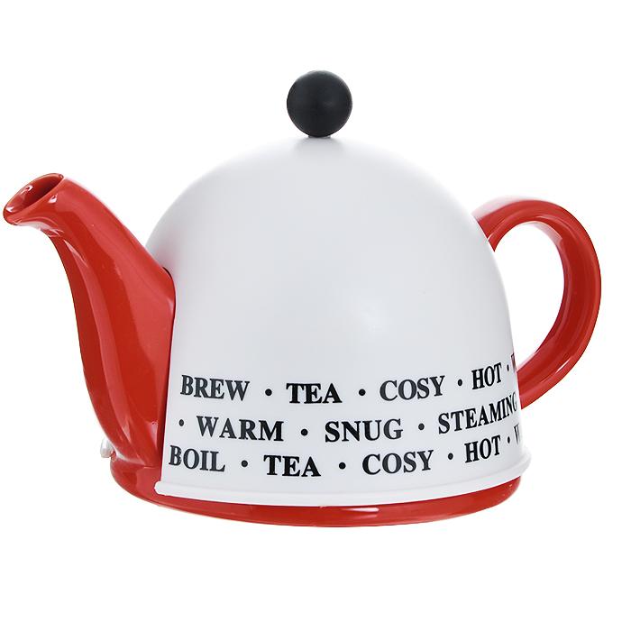 """Чайник заварочный """"Mayer & Boch"""", с термо-колпаком, цвет: красный, 500 мл. 21875"""