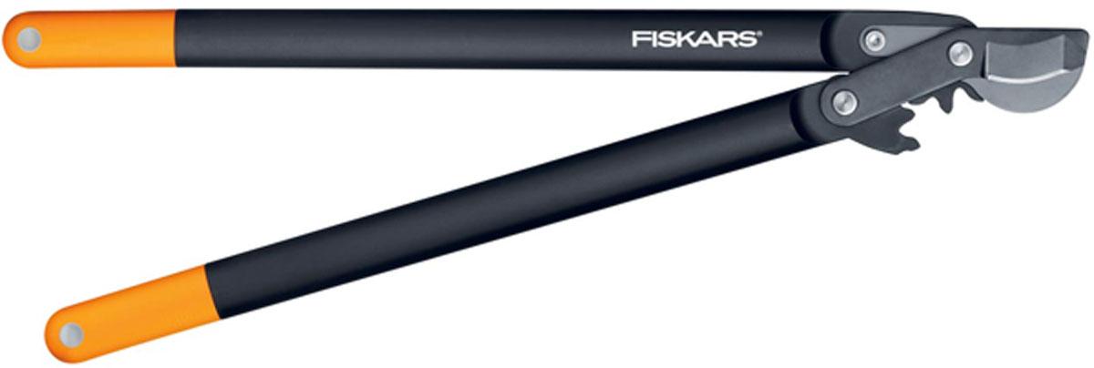 Сучкорез плоскостной Fiskars, с загнутыми лезвиями, 69 см112590Сучкорез Fiskars с силовым приводом PowerGear создан для требовательных садоводов. Уникальный механизм PowerGear гарантирует максимальную мощность инструмента. Сучкорез снабжен увеличивающими усилие зубчатыми (некруговым) механизмом, который оптимально распределяет отрезное усилие, когда это необходимо. Особенности сучкореза: Подходит для обрезки свежей древесины, например кустарников, веток плодовых деревьев Рукоятки из материала FiberComp обеспечивают легкость и прочность инструмента Покрытие рукояток SoftGrip обеспечивает высокий комфорт при работе Механизм PowerGear облегчает подрезку в три раза по сравнению с другими стандартными конструкциями Лезвие загнуто для оптимального захвата Верхнее лезвие из высококачественной углеродистой стали Антифрикционное покрытие верхнего лезвия облегчает резку и уход за инструментом Плоскостная режущая головка позволяет резать у основания ветви Характеристики: Общая длина сучкореза: 69...