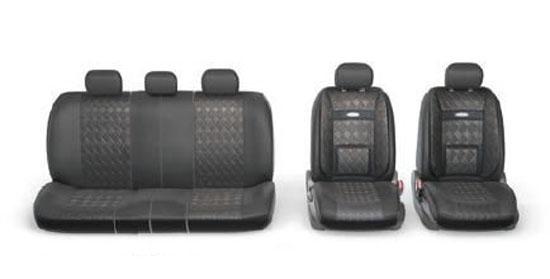 Набор авточехлов Autoprofi Comfort, ортопедическая поддержка, цвет: черный, 11 предметов. Размер M. COM-1105GP BK/BK (M)COM-1105GP BK/BK (M)В качестве внешнего материала в чехлах Comfort GP применяется 3D полиэстер под кожу и экокожа - материал, приятный на ощупь, практически неотличимый от настоящий кожи, не горючий и легкомоющийся. Широкая гамма расцветок чехлов позволяет подобрать их практически к любому салону автомобиля. Анатомическое авточехлы Comfort имеют встроенный поясничный упор, плечевую и боковую поддержку. Посадка водителя и пассажира с этими чехлами становится естественной и удобной, позволяя с легкостью преодолевать большие расстояния. Основные характеристики: - Карманы в спинках передних сидений - 3 молнии в сиденье заднего ряда - 3 молнии в спинке заднего ряда - Предустановленные крючки на широких резинках - Поддержка плечевого пояса - Ортопедический поясничный упор - Боковая поддержка спины - Толщина поролона: 5 мм Комплектация: - 1 сиденье заднего ряда; - 1 спинка заднего ряда; - 2 спинки переднего ряда; - 2...