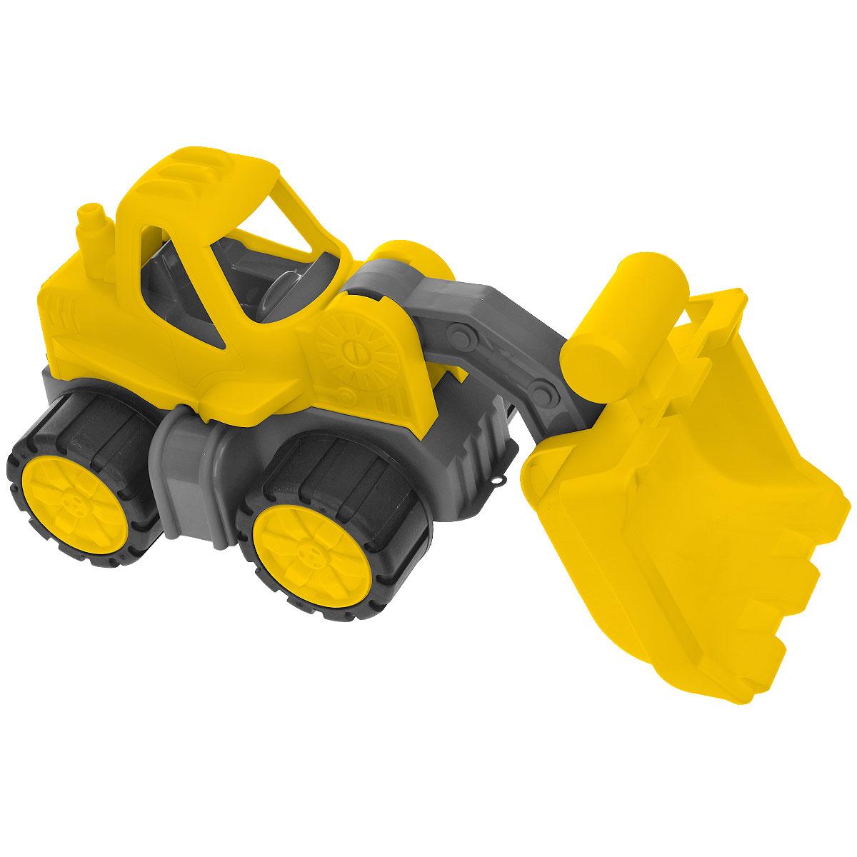 BIG Экскаватор Power-Worker Radlader56837Яркий экскаватор BIG Power-Worker Radlader, изготовленный из прочного безопасного материала желтого и черного цветов, отлично подойдет ребенку для различных игр. Экскаватор - прекрасный помощник на строительной площадке. Экскаватор оснащен подвижным ковшом, с помощью которого можно перемещать материалы (камушки, песок, веточки и др.), убирать строительный мусор или расчищать площадку. Большие колеса с крупным протектором обеспечивают экскаватору устойчивость и хорошую проходимость. Ваш юный строитель сможет прекрасно провести время дома или на улице, воспроизводя свою стройку.