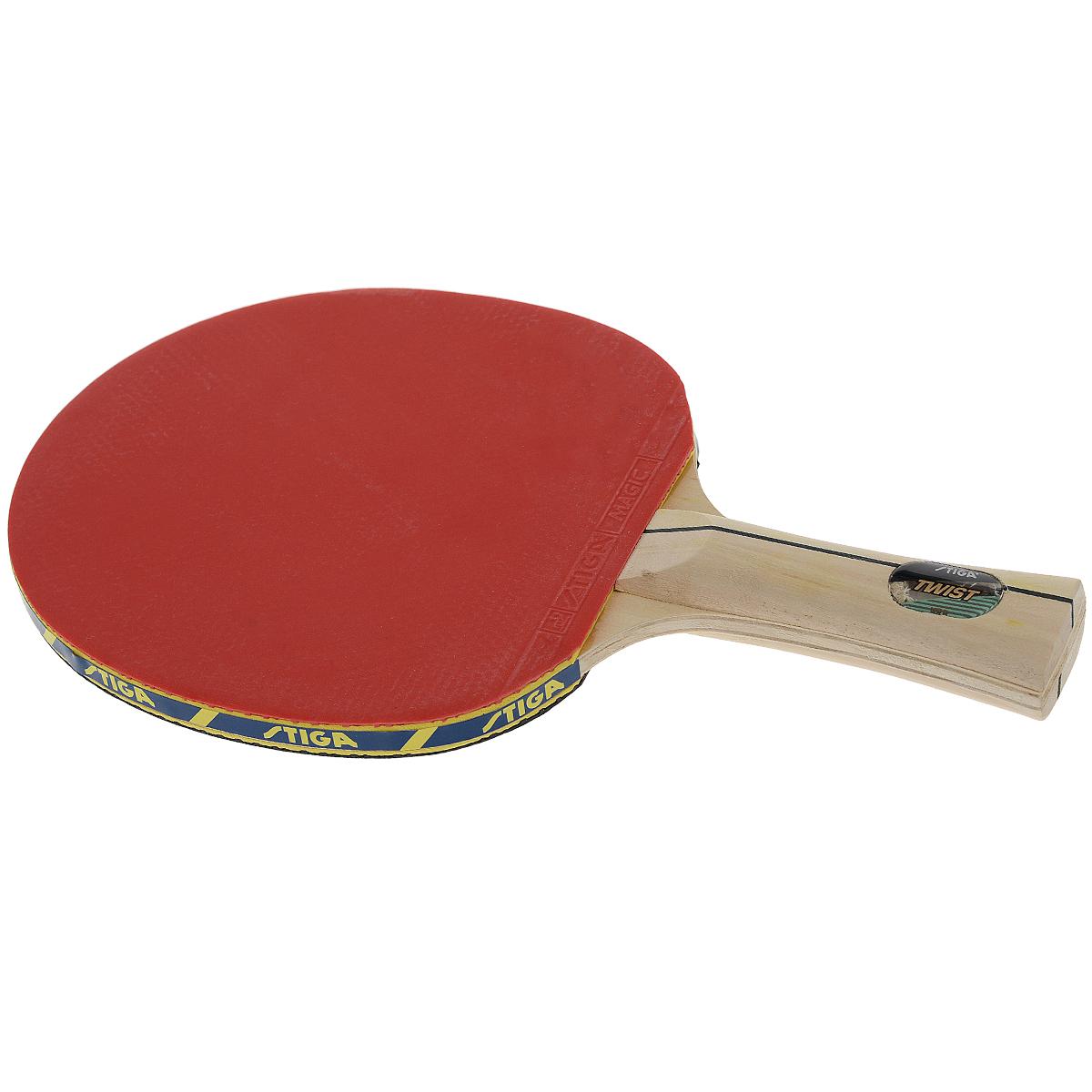 Ракетка для настольного тенниса Stiga Twist WRB26617Ракетка для настольного тенниса Stiga Twist WRB дает превосходное чувство мяча в сочетании с силой удара. Система WRB улучшает отскок, придает дополнительную силу удару и позволяет лучше чувствовать мяч. Основные характеристики: Контроль: 100. Скорость: 29. Кручение: 35. Характеристики указаны в расчете на диапазон от 0 до 100. Характеристики: Размер ракетки: 26 см х 15 см. Длина ручки: 10 см. Материал: дерево, резина. Размер упаковки: 26 см х 15 см х 2 см. Производитель: Китай. Артикул: 26617.