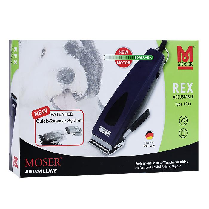 Машинка для стрижки животных Moser Rex Adjustable, со съемным ножом. 1233-00611233-0061Машинка для стрижки животных Moser Rex Adjustable предназначена для быстрой и легкой стрижки домашних животных. Профессиональный хромированный нож с прецизионной заточкой имеет запатентованную систему быстрой смены. Нож удобно использовать и легко чистить. Длину стрижки можно регулировать: нож имеет 6 положений фиксации в пределах 0,1 мм - 3 мм. Машинка идет плавно, имеет низкую шумовую нагрузку. Поляризационный анкерный вибродвигатель обеспечивает непрерывную работу и эффективность результата. Круглый кабель длиной 3 м имеет ушко для подвешивания. В комплект входит: - машинка; - защитная крышка для ножа; - 2 насадки (6 мм и 9 мм); - щеточка для чистки; - масло. Размер корпуса машинки (ДхШхВ): 5 см х 18 см х 4 см. Длина рабочей поверхности ножа: 4 см. Ширина среза: 46 мм. Высота среза: 0,1-3 мм. Мощность: 15 Вт. Количество насадок: 2 шт.
