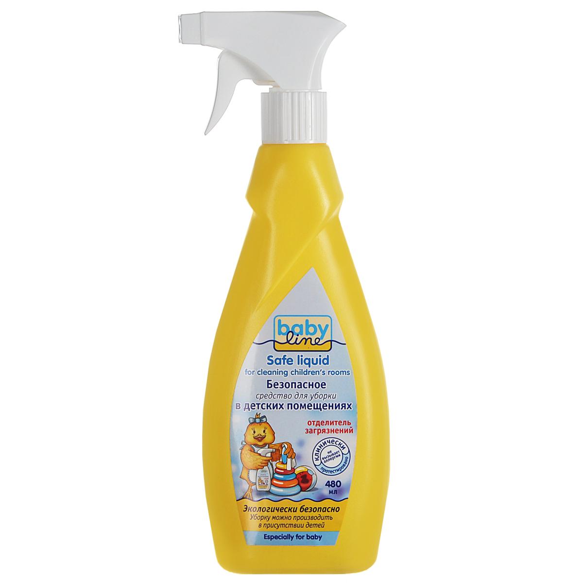 BabyLine Безопасное средство для уборки детских помещений, 480 мл18273255Эффективное чистяще-моющее средство BabyLine предназначено для уборки в помещениях, где находятся дети и, особенно, аллергики. Эффективно удаляет органические загрязнения от молока, фруктовых и овощных пюре, соков, а также мочи, кала, следы от фломастера, карандаша, наклеек, скотча и другую грязь. Подходит для чистки предметов из любых материалов: дерева, кожи, кожзаменителя, тканей, пластика, линолеума и пр. Не имеет цвета и запаха. Не раздражает кожные покровы и дыхательные пути. Не содержит спирта, хлора, диоксидов. Продукт биоразлагаем, не наносит вреда окружающей среде.