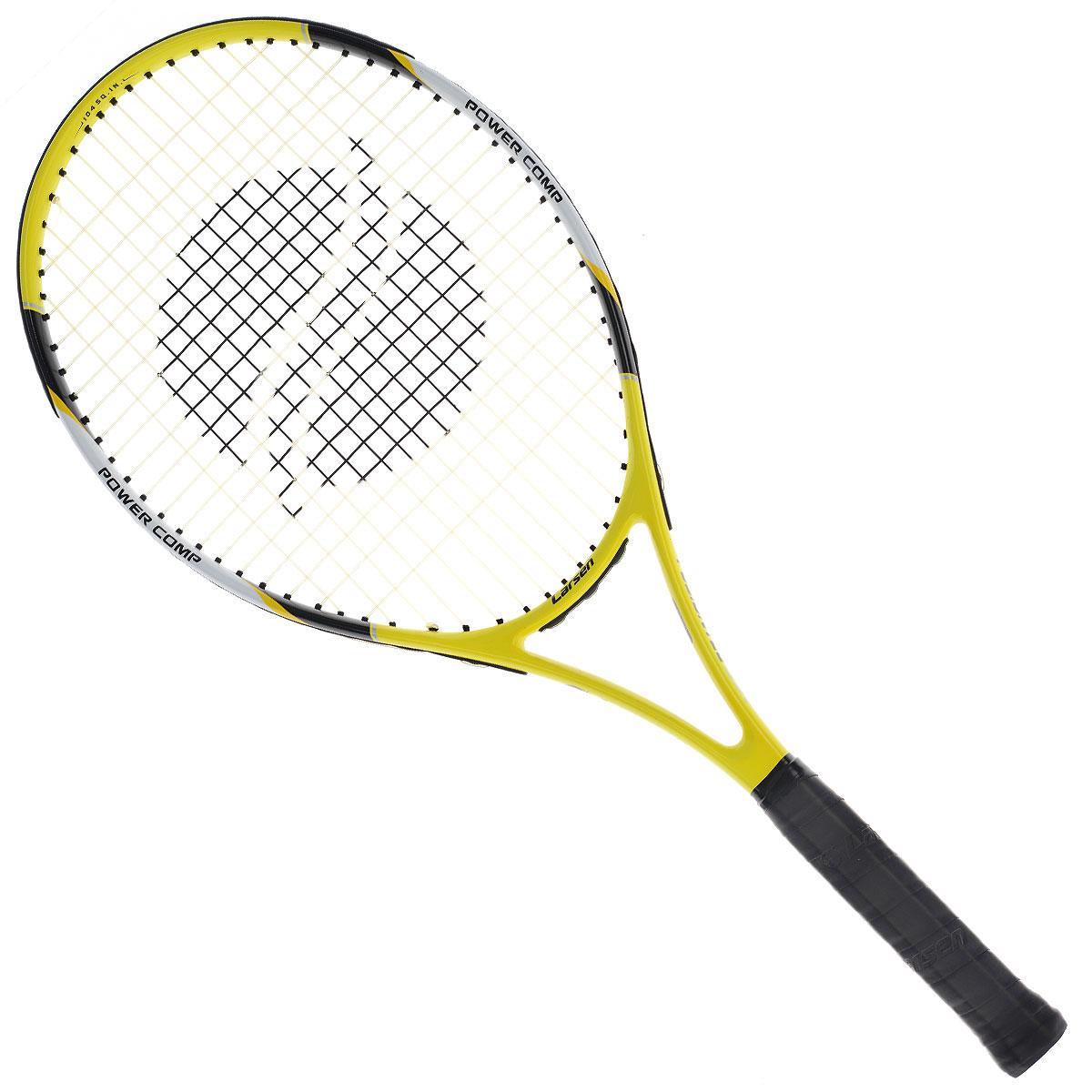 Ракетка для большого тенниса Larsen 530124439Ракетка для большого тенниса Larsen 530 - отличный выбор для любителей большего тенниса. Основа этой ракетки изготовлена из алюминия и графита, тем самым, делая эту ракетку легкой и очень удобной. Уверенная и надежная игра на теннисном корте с этой ракеткой вам обеспечена. Характеристики: Материал: алюминий, графит. Вес: 300 г +/-5 г. Длина: 25. Баланс: 315 мм +/-7,5 мм. Рекомендуемое натяжение: 47-52 lbs/21-24 кг. Размер упаковки: 73 см х 32 см х 3 см.