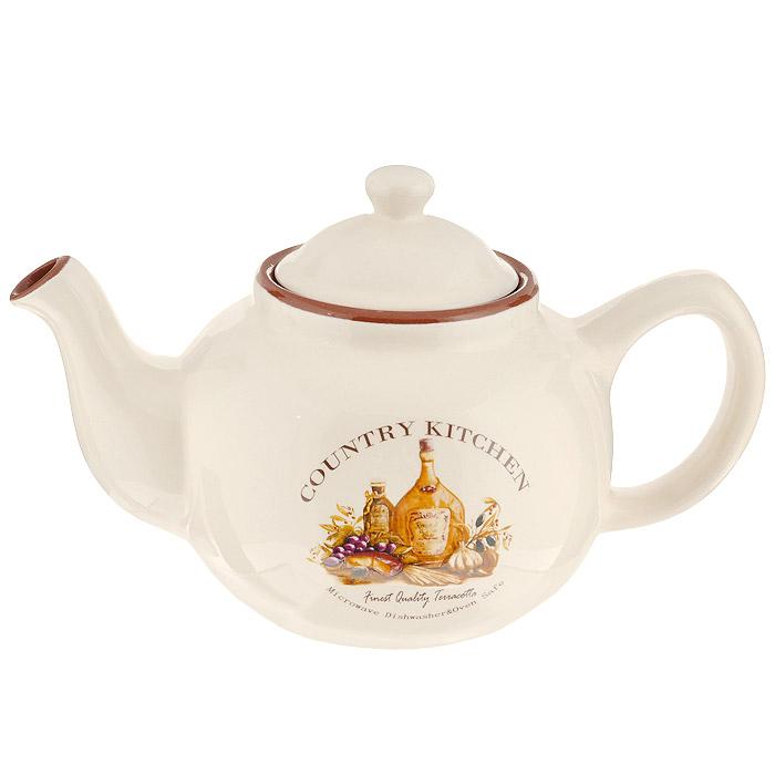 Чайник Terracotta Сардиния, 1 л. TLY801-1-BT-ALTLY801-1-BT-ALЧайник Сардиния изготовлен из жаропрочной керамики с нанесением высококачественной глазури. Чайник станет отличным дополнением к вашему кухонному инвентарю, а также украсит сервировку стола и подчеркнет прекрасный вкус хозяина. Допускается мытье в посудомоечной машине при соблюдении инструкции изготовителя посудомоечной машины. Характеристики: Материал: керамика. Диаметр чайника по верхнему краю: 9 см. Наибольший диаметр чайника: 15 см. Диаметр основания чайника: 9 см. Высота чайника (без крышки): 11 см. Высота чайника (с крышкой): 15 см. Размер чайника (с ручкой, носиком и крышкой): 25 см х 15 см 15 см. Объем чайника: 1 л. Размер упаковки: 21,7 см х 15 см х 11,5 см. Производитель: Италия. Изготовитель: Китай. Артикул: TLY801-1-BT-AL. Торговая марка Terracotta - это коллекции разнообразной посуды для сервировки стола, хранения продуктов и приготовления пищи из жаропрочной керамики, покрытой высококачественной глазурью....