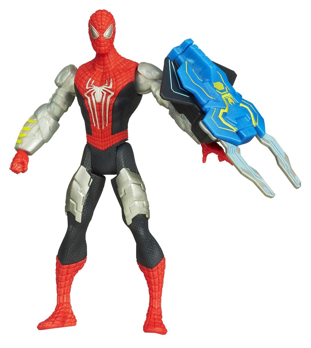 Spider-Man Фигурка Spider StrikeA5700E27_A5701Фигурка Spider-man Spider Strike станет прекрасным подарком для вашего ребенка. Она выполнена из прочного яркого пластика в виде знаменитого супергероя - Человека-паука. Голова, руки и ноги фигурки подвижны, что позволит придавать Человеку-пауку различные позы. В комплект также входит его грозное оружие со встроенным магнитом, раскладывающееся при прикосновении к руке фигурки. Ваш ребенок будет часами играть с этой фигуркой, придумывая различные истории с участием любимого героя. Человек-паук - супергерой, получивший суперсилу, увеличенную ловкость, паучье чутье, а также способность держаться на отвесных поверхностях и выпускать паутину из рук. Теперь он готов наказать злодеев, которые покушаются но покой его родного города! Характеристики: Высота фигурки: 10,5 см.