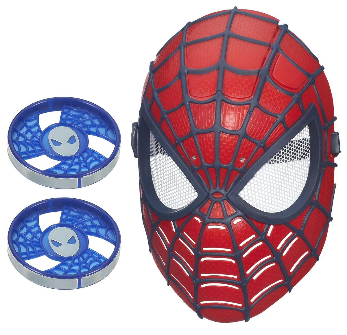 Электронная маска Spider-man Человек-паук, цвет: красный, черныйB5713У вашего ребенка намечается детский утренник, бал-маскарад или карнавал? Электронная маска Spider-man Человек-паук внесет нотку задора и веселья в праздник и станет завершающим штрихом в создании праздничного образа. Маска имеет прорези для глаз с сетчатыми пластиковыми вставками и держится на голове при помощи эластичных ремешков на липучке. Благодаря технологии Fire Vision ребенок сможет увидеть соперников даже в темноте. Две лампочки между глаз загораются при нажатии кнопки сверху, чтобы повергнуть в ужас любого, кто противостоит супергерою! В комплект включены два светоотражающих диска, которые видны в темноте с помощью маски. Человек-паук - супергерой, получивший суперсилу, увеличенную ловкость, паучье чутье, а также способность держаться на отвесных поверхностях и выпускать паутину из рук. Теперь он готов наказать злодеев, которые покушаются но покой его родного города! Перевоплотись в своего любимого супергероя с этой маской! Характеристики: ...