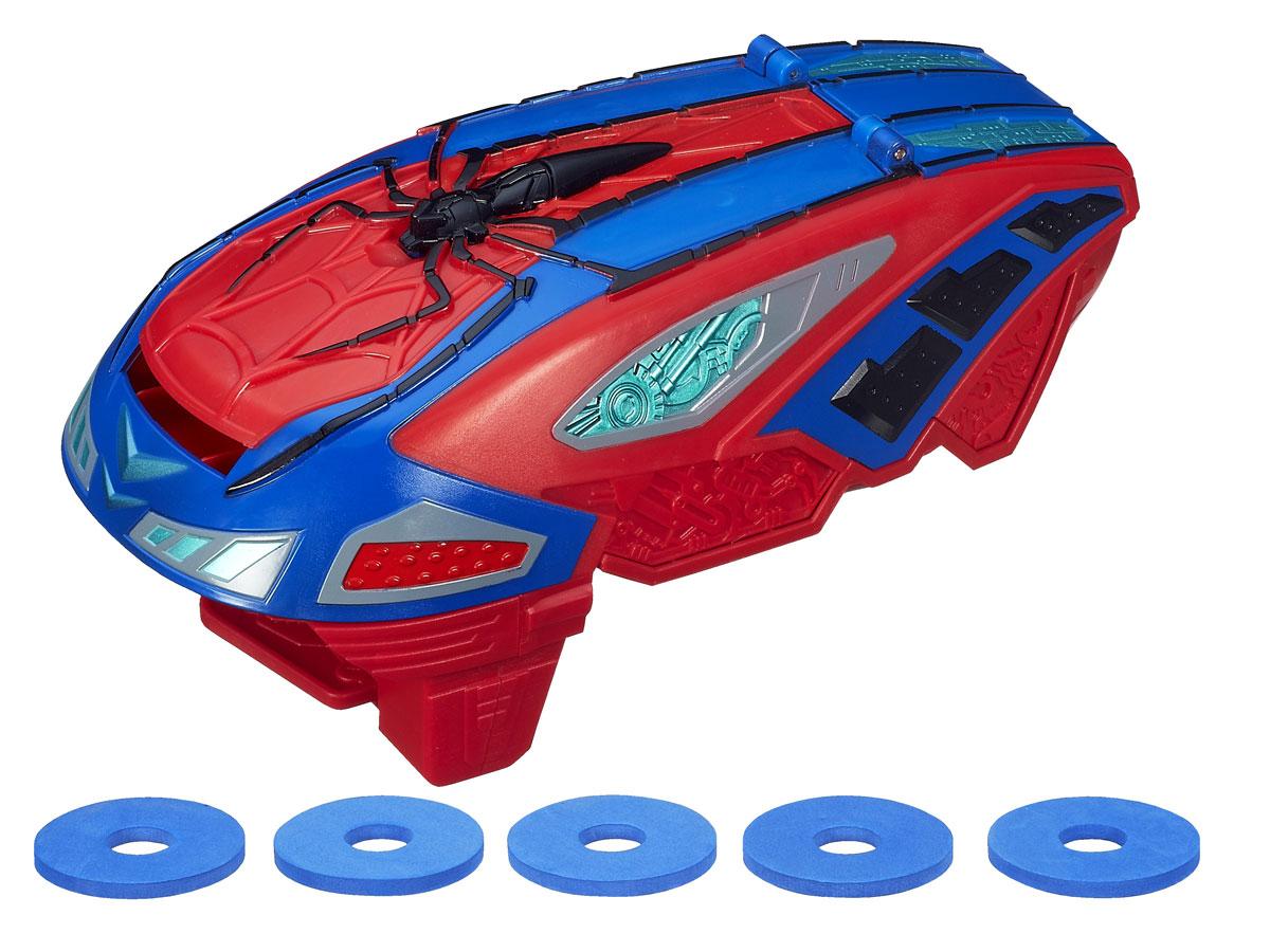 Автоматический бластер Spider-man Сила Паука, с дисками, цвет: синий, красныйA7407Автоматический паутинный бластер Spider-man Сила Паука станет отличным подарком для вашего ребенка. С ним каждый мальчишка сможет стрелять паутиной так же быстро, как это делает Человек-паук! Скоростной бластер, выполненный из пластика синего и красного цветов, очень прост в использовании: загрузите внутрь диски, наденьте оружие на руку и поразите свою цель. Диски вылетают из бластера на расстояние до 6 метров. В комплект входят бластер и 10 дисков, выполненных из вспененного полимера. С бластером Spider-man Сила Паука ваш ребенок всегда будет во всеоружии! Человек-паук - супергерой, получивший суперсилу, увеличенную ловкость, паучье чутье, а также способность держаться на отвесных поверхностях и выпускать паутину из рук. Теперь он готов наказать злодеев, которые покушаются но покой его родного города!