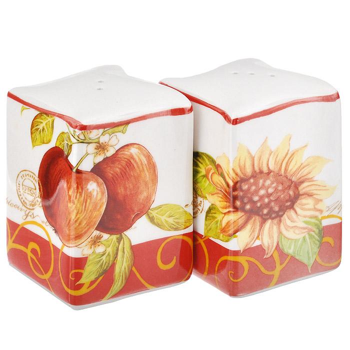 Набор для специй Infinity Яблочный дождь, 2 предметаINFEX-A011-AP-ALНабор Infinity Яблочный дождь, состоящий из солонки и перечницы, изготовлен из высококачественной доломитовой керамики. Отличительной особенностью доломитовой керамики является легкость и белизна. Яркий и красочный рисунок на такой керамике выглядит особенно привлекательно. Солонка и перечница легки в использовании: стоит только перевернуть емкости, и вы с легкостью сможете поперчить или добавить соль по вкусу в любое блюдо. Дизайн, эстетичность и функциональность набора позволят ему стать достойным дополнением к кухонному инвентарю.