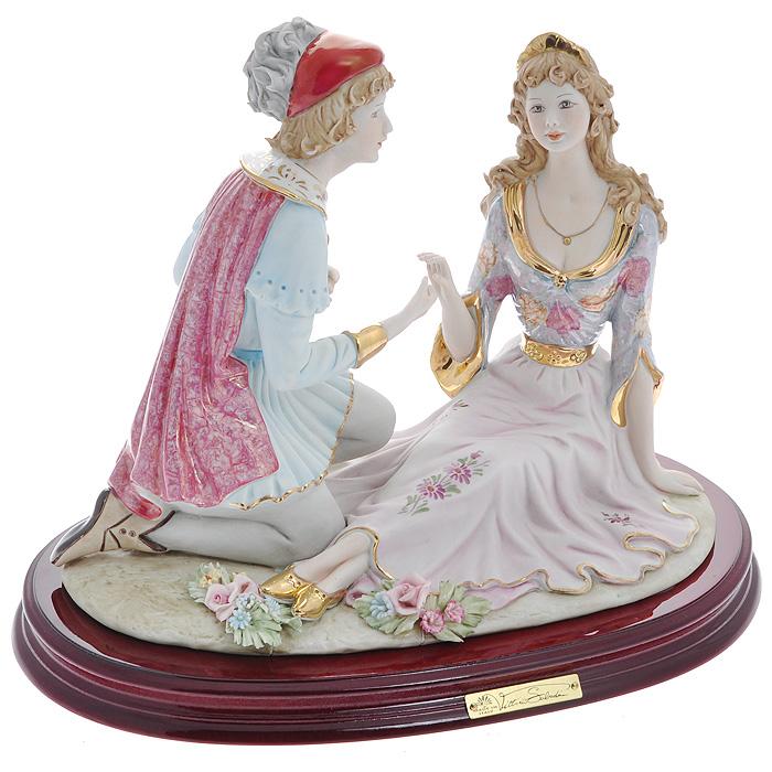Статуэтка Ромео и Джульетта, 26 смSB224LALСтатуэтка Ромео и Джульетта, выполненная из фарфора, станет оригинальным подарком для всех любителей стильных вещиц. Статуэтка выполнена в виде влюбленной пары Ромео и Джульетта. Изысканный сувенир станет прекрасным дополнением к вашему интерьеру. Характеристики: Материал: фарфор. Высота статуэтки: 26 см. Размер статуэтки: 33 см х 22 см. Размер упаковки: 41 см х 31 см х 23 см. Артикул: SB224LAL. Изготовитель: Китай.