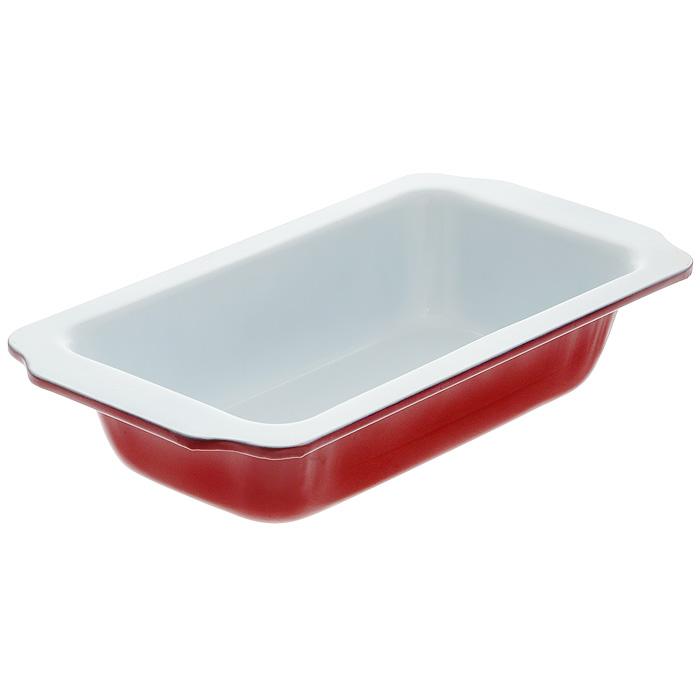 Форма для запекания Eco Cook, прямоугольная, цвет: красный, 30,5 х 16,5 х 5 см0104323Прямоугольная форма для выпечки с ручками Eco Cook выполнена из алюминия и снабжена керамическим покрытием, что обеспечивает форме прочность и долговечность. Керамическое покрытие абсолютно безвредно, не выделяет СО2, PFOA, PTFE. Форма равномерно и быстро прогревается, что способствует лучшему пропеканию пищи. Данную форму легко чистить. Готовая выпечка без труда извлекается из формы. Форма подходит для использования в духовке с максимальной температурой 280°С. Перед каждым использованием форму необходимо смазать небольшим количеством масла. Чтобы избежать повреждений антипригарного покрытия, не используйте металлические или острые кухонные принадлежности. Можно мыть в посудомоечной машине.