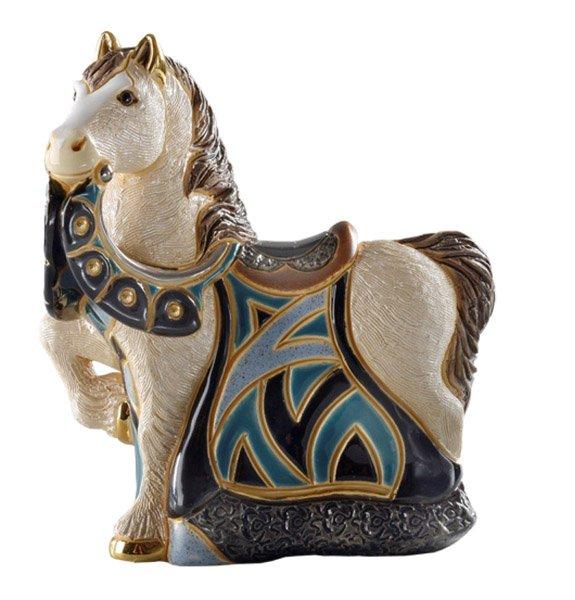 Статуэтка Конь в синей попонеDERSW016BALМатериал: Керамика. Цвет: синий, желтый, красный, зеленый, голубой. Серия: Статуэтки.