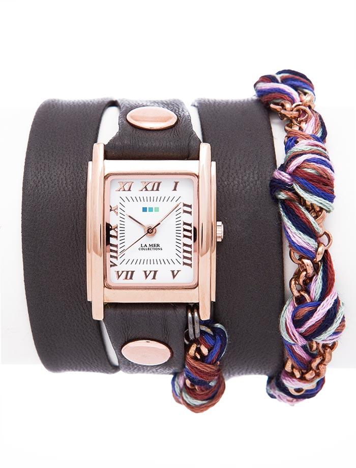 Часы женские наручные La Mer Collections Chain Amber Friendship Dark Grey. LMCW9007LMCW9007Женские наручные часы Chain Amber Friendship Dark Grey позволят вам выделиться из толпы и подчеркнуть свою индивидуальность. Часы оснащены японским кварцевым механизмом SEIKO. Ремешок выполнен из натуральной итальянской кожи с матовой поверхностью и декорирован золотистой цепочкой. Корпус часов изготовлен из сплава металлов с покрытием золотистого цвета. Циферблат оснащен часовой, минутной и секундной стрелками и защищен минеральным стеклом. Циферблат оформлен римскими цифрами. Часы застегиваются на классическую застежку. Часы хранятся на специальной подушечке в футляре из искусственной кожи, крышка которого оформлена логотипом компании La Mer Collection.