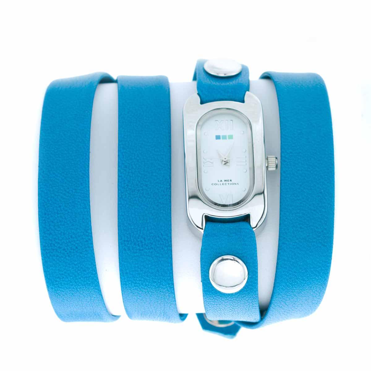 Zakazat.ru: Часы наручные женские La Mer Collections Soho Greecian Blue Silver. LMSOHO1008