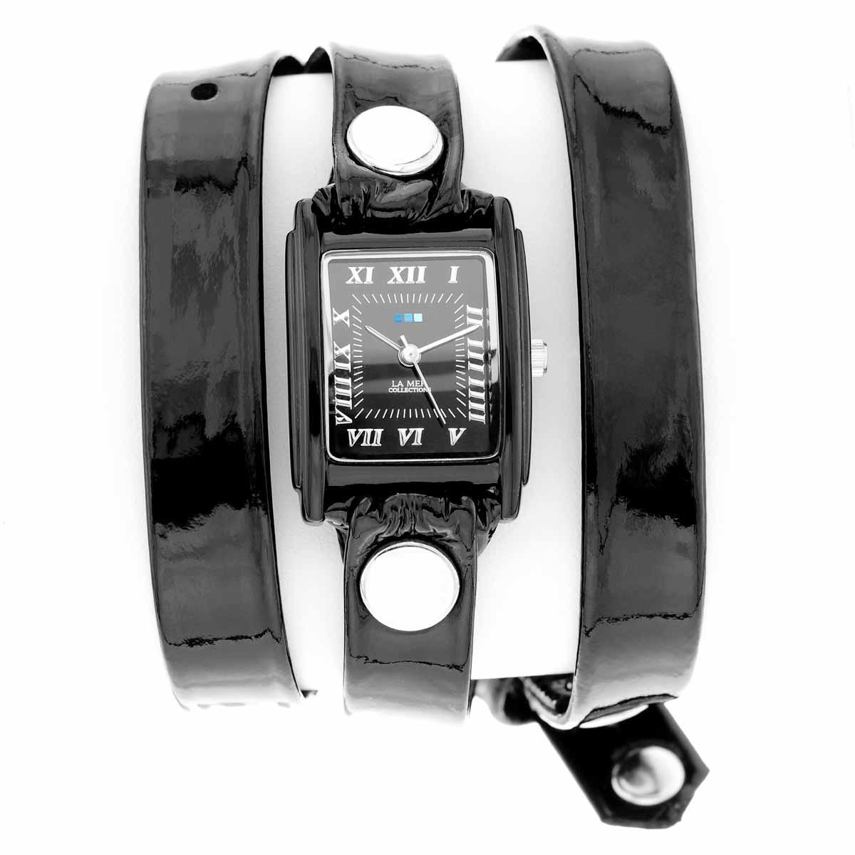 Часы женские наручные La Mer Collections Simple Black. LMSTW1005xLMSTW1005xЖенские наручные часы Simple Black позволят вам выделиться из толпы и подчеркнуть свою индивидуальность. Часы оснащены японским кварцевым механизмом SEIKO. Ремешок выполнен из натуральной итальянской лаковой кожи и декорирован заклепками. Корпус часов изготовлен из сплава металлов с покрытием черного цвета. Циферблат оснащен часовой, минутной и секундной стрелками и защищен минеральным стеклом. Циферблат оформлен римскими цифрами и отметками. Часы застегиваются на классическую застежку. Часы хранятся на специальной подушечке в футляре из искусственной кожи, крышка которого оформлена логотипом компании La Mer Collection. Характеристики: Механизм: кварцевый SEIKO (Япония). Размер корпуса: 25 х 22 х 8 мм. Материал корпуса: сплав металлов. Стекло: минеральное. Ремешок: Итальянская натуральная кожа. Размер ремешка: 55 х 1,3 см. Гарантия: 1 год. Размер упаковки: 10 см x 10 см x 6,5 см.