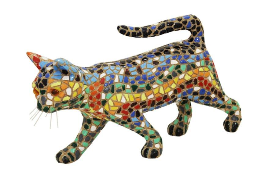 Статуэтка Barcino Кошка, высота 10 смBAR08297ALДекоративная статуэтка Barcino Кошка изготовлена из полистоуна с эффектом мозаики. Вы можете поставить статуэтку в любом месте, где она будет удачно смотреться и радовать глаз. Такая фигурка прекрасно дополнит интерьер офиса или дома.