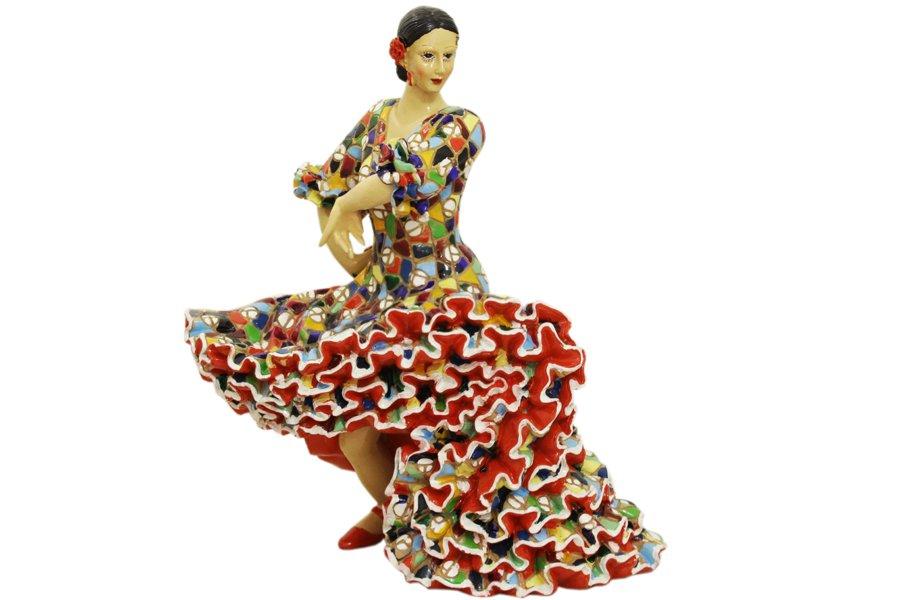 Статуэтка Танцовщица (в танце) h -27 смBAR24068ALМатериал: Полистоун. Цвет: синий, желтый, красный, зеленый, голубой. Серия: Статуэтки.