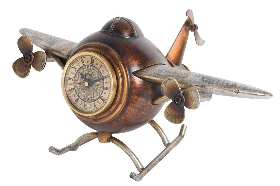 Часы настольные Lisheng Самолет. LI-1337M-ALLI-1337M-ALНастольные кварцевые часы Lisheng Самолет изготовлены из полистоуна коричневого цвета. Изделие выполнено в виде самолета. Циферблат круглой формы оформлен римскими цифрами и отметками и защищен стеклом. Часы имеют две стрелки - часовую и минутную. Настольные часы оригинального дизайна прекрасно оформят интерьер дома или рабочий стол в офисе.