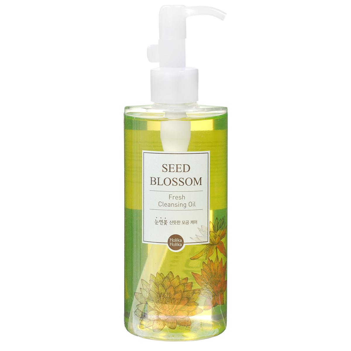 Holika Holika Масло для лица Seed Blossom, освежающее, очищающее, 300 мл000000609Освежающее очищающее масло для умывания Holika Holika Seed Blossom обеспечит глубокое и мягкое очищение вашей коже. Поможет снять даже самый стойкий макияж. Подходит для очищения кожи от BB-средств и удаления стойкого макияжа. Средство содержит масло оливы, масло укропа, экстракт базилика, экстракт полыни, экстракт корицы. Не закупоривает поры, придает гладкость и увлажнение, дает ощущение свежести.