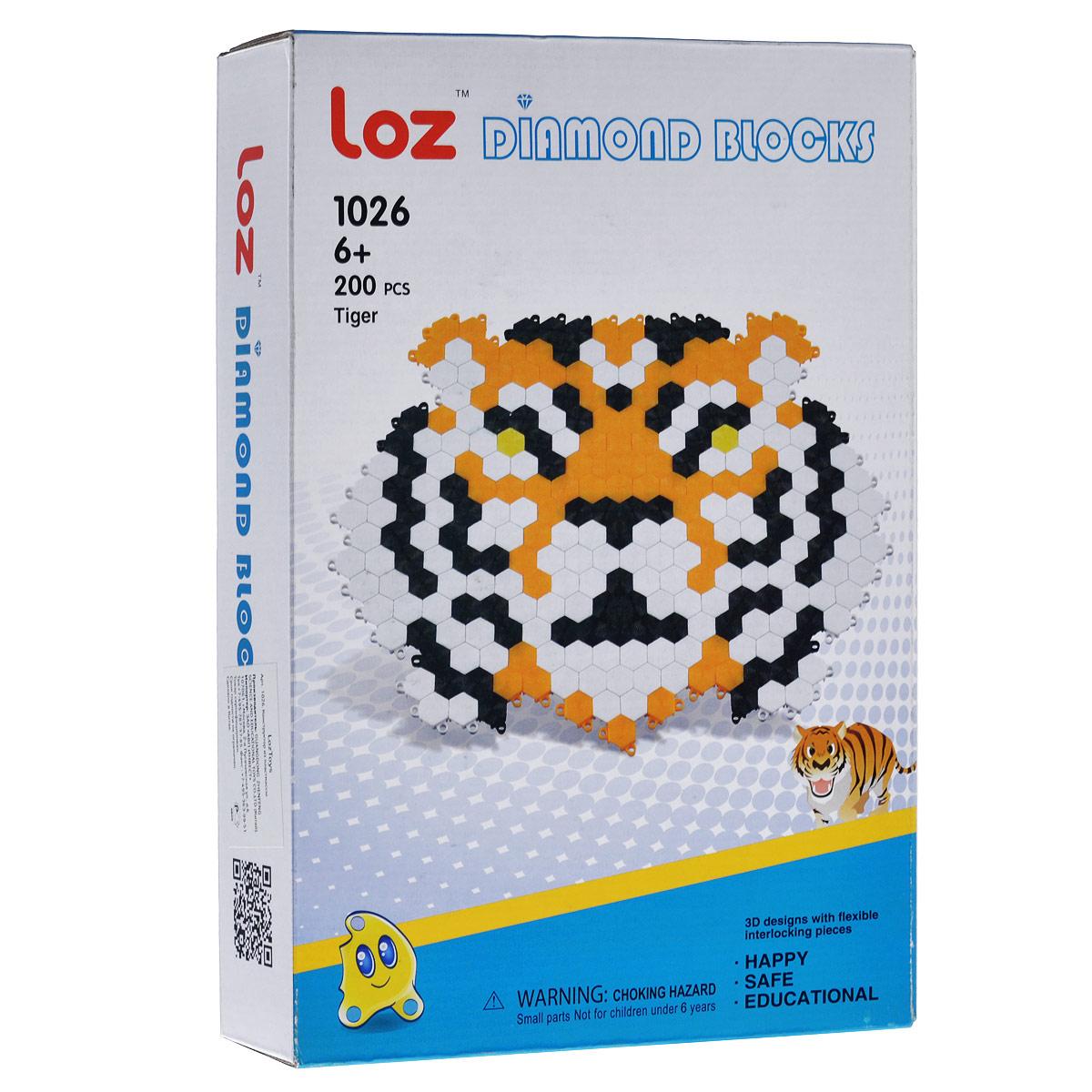 Мозаика Loztoys Тигр, 200 элементов1026Мозаика Loztoys Тигр позволит вашему ребенку весело и с пользой провести время. Мозаика включает в себя 200 пластиковых элементов черного, белого и оранжевого цветов, с помощью которых ребенок сможет собрать голову тигра. Элементы легко скрепляются между собой. Мозаику можно собирать как на столе, так и на полу. Собирание мозаики поможет развить у ребенка мелкую моторику рук, координацию движений, внимательность, логическое и абстрактное мышление, ориентировку на плоскости, а также воображение и творческие способности.