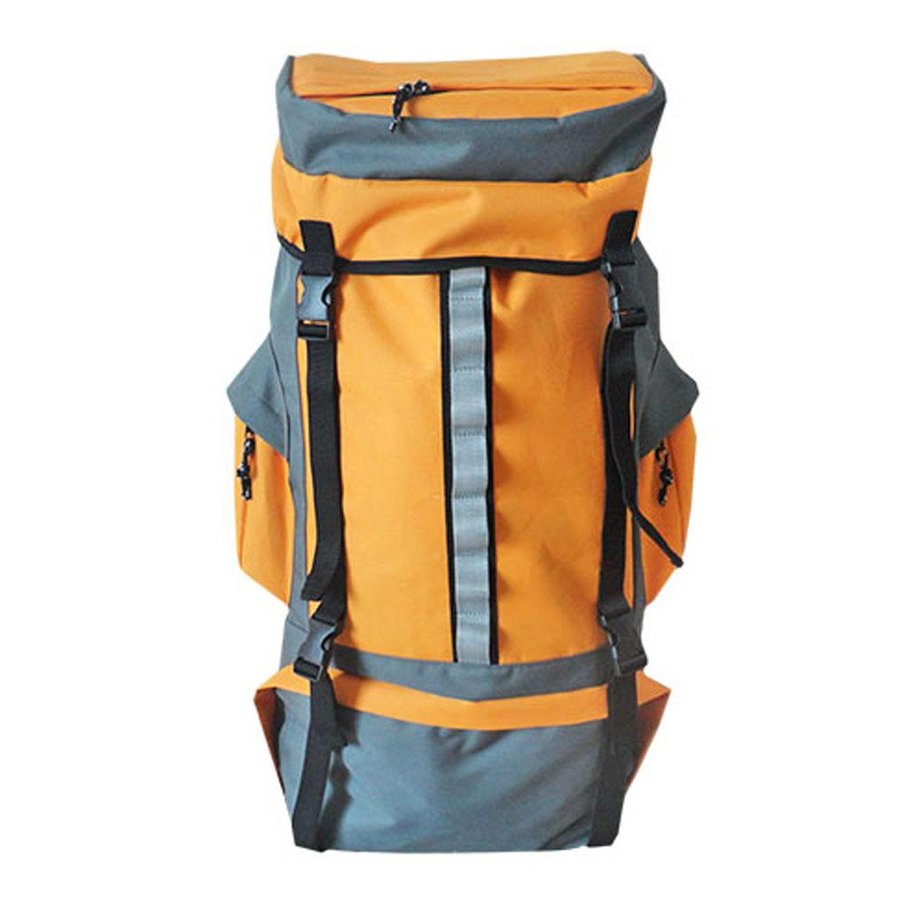 Рюкзак туристический Happy Camper, цвет: серый, оранжевый. R-811