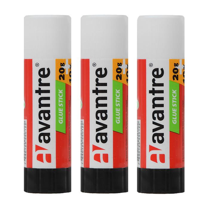 Клей-карандаш Avantre, 15 г, 3 штGLST0115BT3Клей-карандаш Avantre идеально подходит для склеивания бумаги, картона и фотографий. Выкручивающийся механизм обеспечивает постепенное выдвижение клеящего стержня из пластикового корпуса. Клей легко наносится, не деформирует поверхность, а также отстирывается от большинства тканей. Клей-карандаш экологически безопасен и не имеет запаха. Идеален для использования дома, в школе, офисе. В комплекте 3 клея-карандаша. Характеристики: Объем клея: 15 г. Размер клея-карандаша: 9 см х 2,5 см х 2,5 см.