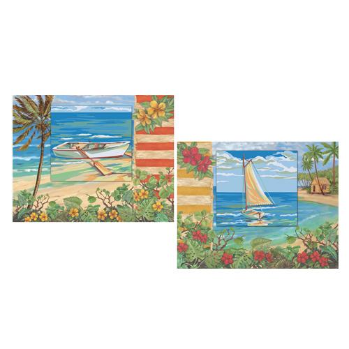 Раскраска по номерам Plaid Лодочка на берегу. Яхта, 28 x 36 см, 2 штPLD-21724С раскрасками по номерам Лодочка на берегу и Яхта каждый сможет стать художником и создать великолепную картину! Нужно лишь аккуратно нанести необходимую краску на отмеченный для нее участок на эскизе картины. В набор входит: 8 баночек с акриловыми красками, 2 фактурных листа картона, два готовых паспарту, кисть и инструкция. Каждая краска имеет свой номер, соответствующий номеру на картине. Некоторые участки требуют смешения цветов, они обозначены буквами. Рекомендуется сначала раскрасить участки одного цвета, прежде чем переходить к окрашиванию другими цветами. Если Ваши дети любят рисовать и заниматься изобразительным искусством, то, несомненно, для них станет лучшим подарком этот набор. Дизайн картинок стимулирует творческую активность ребенка, а сама работа доставляет большое удовольствие. Эта раскраска позволяет открыть художника в каждом ребенке!