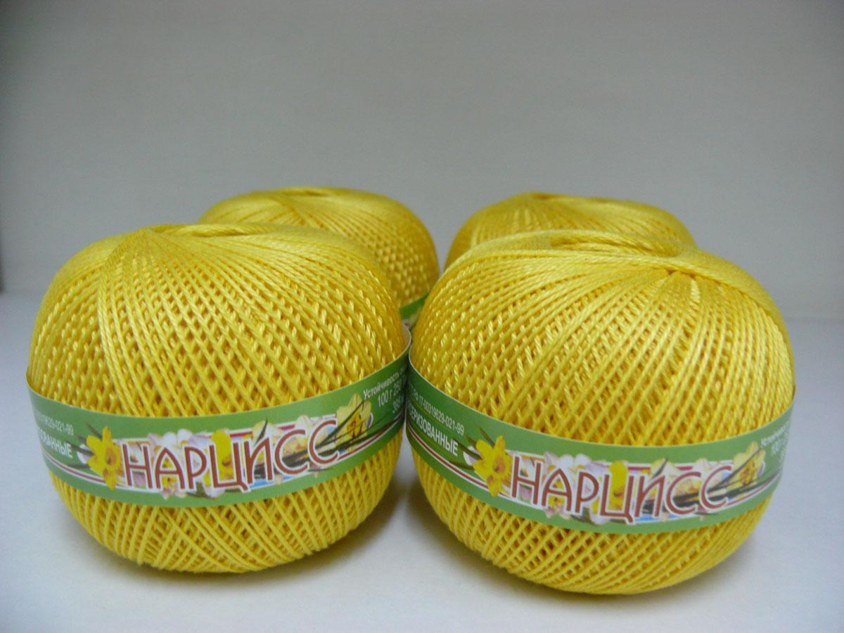 Нитки вязальные Нарцисс, хлопчатобумажные, цвет: лимон (0204), 395 м, 100 г, 4 шт0211401854778Вязальные нитки в 3 сложения Нарцисс изготовлены из 100% хлопка. Такие нитки используются для вязания крючком. Нити крученые, матовые, мерсеризованные. Устойчивость окраски - особо прочная. В наборе - 4 клубка. С их помощью вы сможете связать своими руками необычные и красивые вещи.