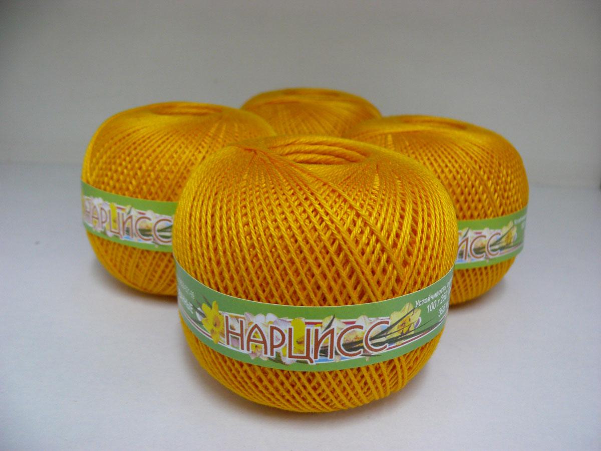 Нитки вязальные Нарцисс, хлопчатобумажные, цвет: янтарный (0510), 395 м, 100 г, 4 шт0211401881778Вязальные нитки в 3 сложения Нарцисс изготовлены из 100% хлопка. Такие нитки используются для вязания крючком. Нити крученые, матовые, мерсеризованные. Устойчивость окраски - особо прочная. В наборе - 4 клубка. С их помощью вы сможете связать своими руками необычные и красивые вещи.