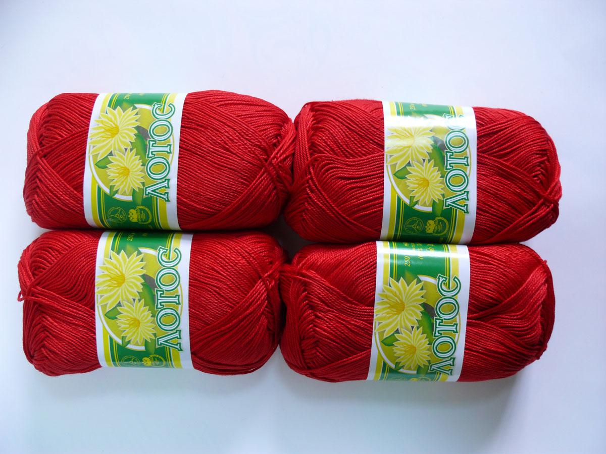 Красные нитки для вязания 99