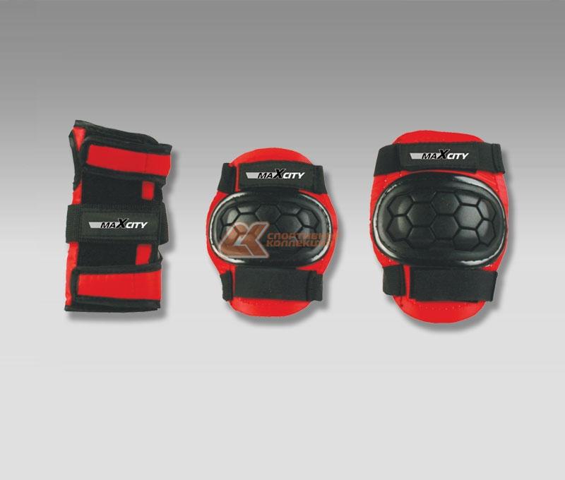 Защита роликовая MaxCity Match, цвет: красный, черный. Размер M2770960254215
