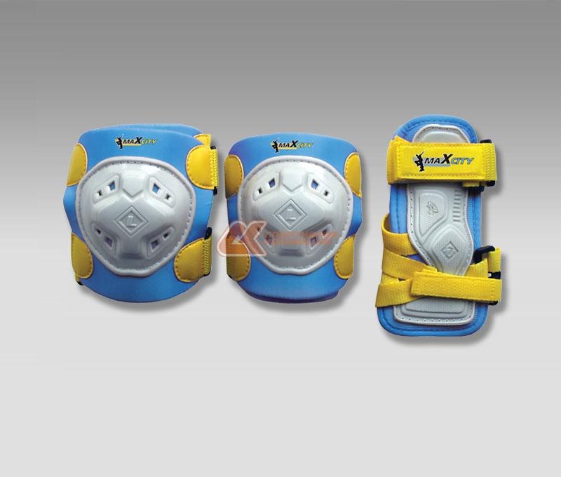 Защита роликовая MaxCity Game, цвет: синий. Размер S2770960549014