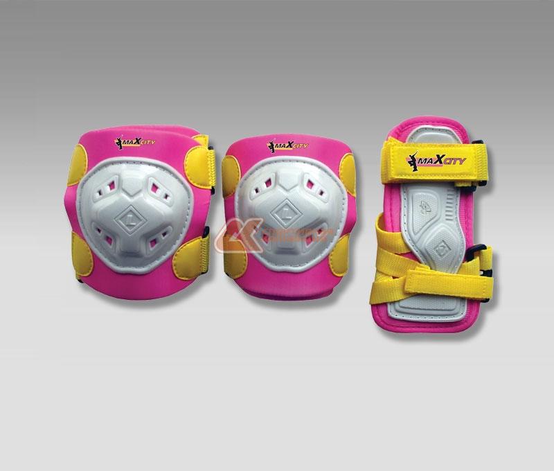 Защита роликовая MaxCity Game, цвет: розовый. Размер L2770960549113