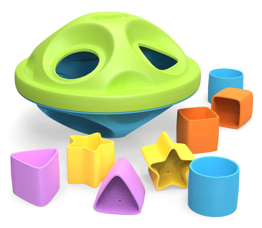 Игрушка-сортер Green Toys70766Яркая игрушка-сортер Green Toys привлечет внимание вашего ребенка и не позволит ему скучать. Она выполнена из прочного пластика красного, желтого и салатового цветов в виде ромба, состоящего из двух элементов, с каждым из которых также можно играть отдельно. В комплект входят восемь фигурок: треугольник, квадрат, круг и звездочка. Задача малыша состоит в том, чтобы опустить фигурки в соответствующие им отверстия. Когда все они окажутся внутри сортера, их можно достать, повернув и сняв один из элементов игрушки. Игрушка-сортер Green Toys способствует развитию у малыша внимания, мышления, мелкой моторики рук, координации движений, знакомит с понятиями цвета, формы и размера предмета.