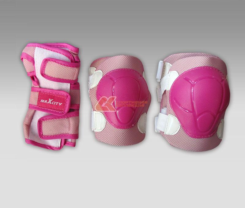 Защита роликовая MaxCity Color, цвет: розовый. Размер S2770960914812