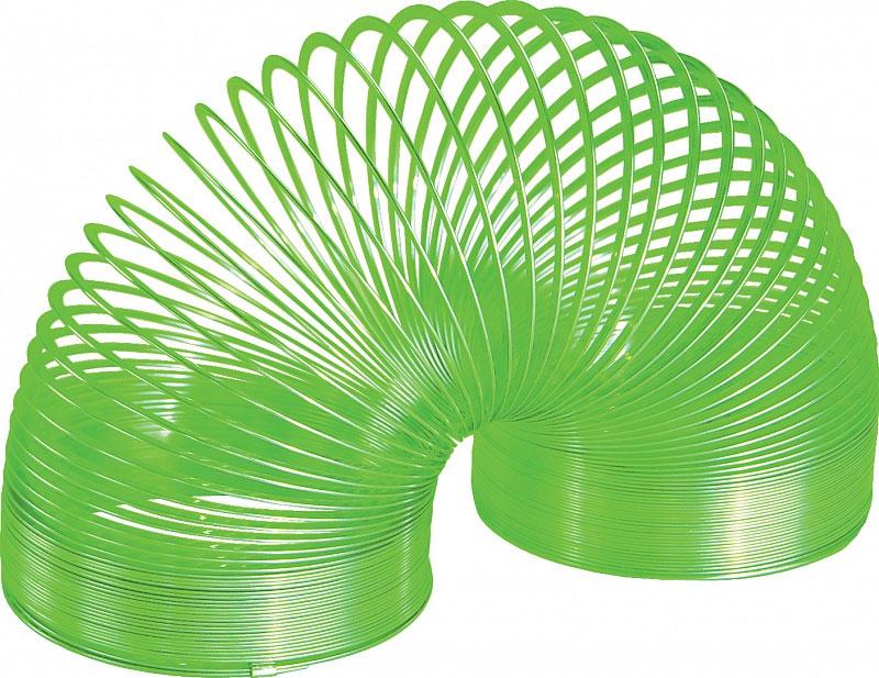 Игрушка-пружинка Slinky, металлическая, цвет: зеленыйСЛ8-111/greenИгрушка-пружинка Slinky - это deluxe-версия оригинальной пружинки Slinky из металла, окрашенная на заводе Slinky в США специальным цветным лаком с использованием самого современного оборудования и лучших материалов. Цветная пружинка из металла - это не просто игрушка, это вершина современного модельного ряда Slinky. Особый широкий профиль витков пружинки обеспечивает мягкое и плавное перекатывание, а так же исключает вероятность случайного запутывания. Как и классическую металлическую Слинки, эту пружинку можно запускать по лестнице или перекатывать из одной руки в другую. Порадуйте своего ребенка таким замечательным подарком!