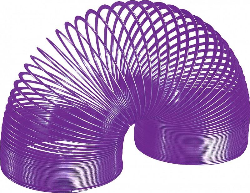 Игрушка-пружинка Slinky, металлическая, цвет: фиолетовыйСЛ8-111/purpleИгрушка-пружинка Slinky - это deluxe-версия оригинальной пружинки Slinky из металла, окрашенная на заводе Slinky в США специальным цветным лаком с использованием самого современного оборудования и лучших материалов. Цветная пружинка из металла - это не просто игрушка, это вершина современного модельного ряда Slinky. Особый широкий профиль витков пружинки обеспечивает мягкое и плавное перекатывание, а так же исключает вероятность случайного запутывания. Как и классическую металлическую Слинки, эту пружинку можно запускать по лестнице или перекатывать из одной руки в другую. Порадуйте своего ребенка таким замечательным подарком!