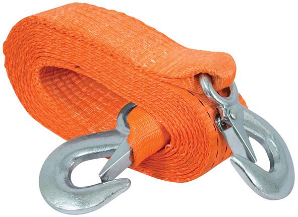 Трос буксировочный FIT, 4,5 м х 50 мм64713Буксировочный трос обязательно должен быть в каждом автомобиле. Он необходим на случай аварийной ситуации или если ваш автомобиль застрял на бездорожье. Трос FIT изготовлен из прочного полиэстера, а крюки из инструментальной стали. Характеристики: Материал: полиэстер, инструментальная сталь. Длина: 4,5 м. Ширина: 5 см. Максимальная нагрузка: 3 т. Цвет: оранжевый.