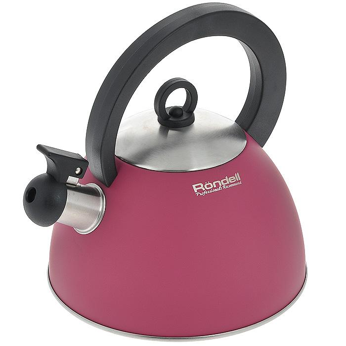 Чайник Rondell Geste, со свистком, 2 лRDS-361Чайник Rondell Geste изготовлен из высококачественной нержавеющей стали 18/10, благодаря чему не подвержен коррозии, устойчив к органическим кислотам, долговечен и прост в уходе. Капсулированное дно чайника способствует быстрому закипанию воды даже при небольшой мощности конфорок. Стильное водно-силиконовое покрытие красного цвета легко в уходе и обеспечивает безупречный внешний вид. Прочная бакелитовая ручка делает использование чайника очень удобным и безопасным. Наличие свистка позволяет следить за кипением чайника. Свисток снабжен стальной сердцевиной и устройством для открывания носика. Чайник подходит для использования на всех видах плит, включая индукционные. Нельзя мыть в посудомоечной машине. Характеристики: Материал: нержавеющая сталь 18/10, бакелит. Объем: 2 л. Цвет: красный. Диаметр основания чайника: 20 см. Высота чайника (без учета ручки и крышки): 12 см. Посуда Rondell совсем недавно появилась на российском...