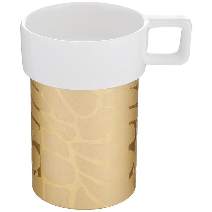 Кружка Amber Porcelain Жираф, цвет: белый, золотистый, 220 мл214178Кружка Amber Porcelain Жираф, выполненная из фарфора, имеет оригинальную форму и дизайн. Дно изделия оснащено силиконовой накладкой. Такая кружка порадует вас дизайном и функциональностью, а пить чай или кофе из нее станет еще приятнее.