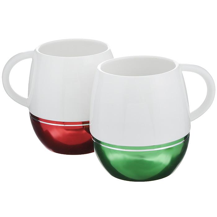 Набор кружек Amber Porcelain, 430 мл, 2 шт214175Набор Amber Porcelain состоит из двух кружек, выполненных из фарфора. Дно изделий оснащено силиконовой накладкой. Этот необычный набор станет великолепным подарком для каждого и, несомненно, вызовет восхищение.