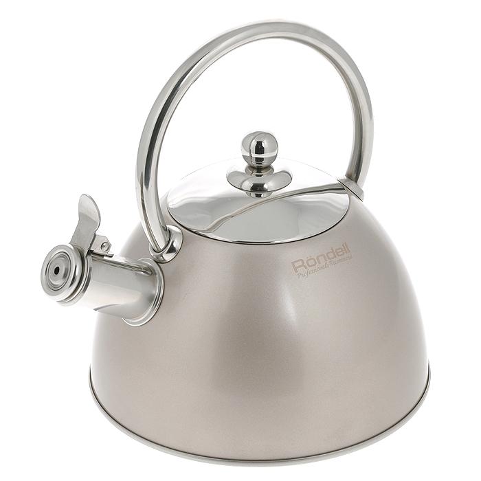 Чайник Rondell Nelke, со свистком, 2 лRDS-103Чайник Rondell Nelke изготовлен из высококачественной нержавеющей стали 18/10, благодаря чему не подвержен коррозии, устойчив к органическим кислотам, долговечен и прост в уходе. Капсулированное дно чайника способствует быстрому закипанию воды даже при небольшой мощности конфорок. Внешнее покрытие позволяет легко ухаживать за чайником и обеспечивает безупречный внешний вид. Наличие свистка позволяет следить за кипением чайника. Свисток открывается при помощи клапана. Стильный дизайн изделия украсит любую кухню. Чайник подходит для использования на всех видах плит, включая индукционные. Нельзя мыть в посудомоечной машине.