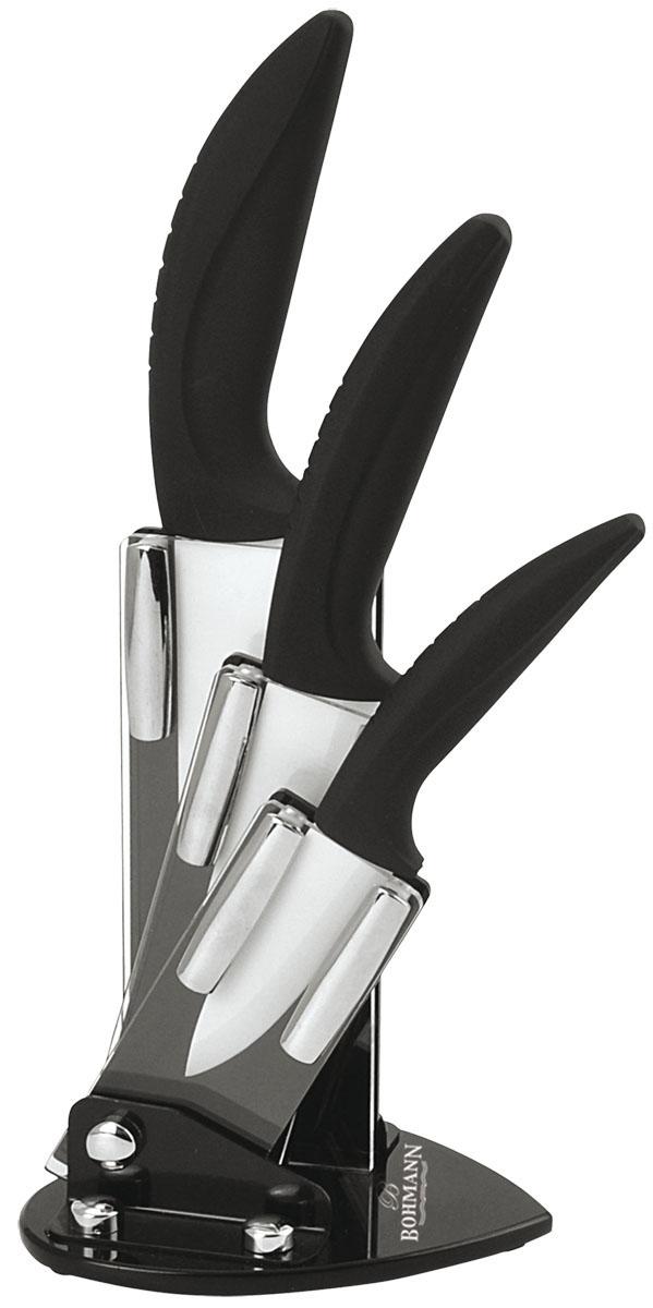 Набор ножей Bohmann, на подставке, цвет: белый, 4 предмета. 5210BH