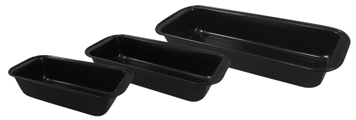 Набор форм для выпечки Bohmann, 3 шт. 6453BH6453BHНабор Bohmann состоит из трех прямоугольных форм для выпечки, изготовленных из металла с антипригарным покрытием. Форма с антипригарным покрытием идеально подходит для приготовления пищи с применением минимального количества масла и жиров. Слой антипригарного покрытия полностью устраняет пригорание пищи и ее прилипание к стенкам и дну. Приготовленная в такой форме пища отлично сохраняет свои вкусовые качества и имеет привлекательный, аппетитный вид. Выпечка легко извлекается из формы. Рекомендуется пользоваться деревянной или нейлоновой лопаткой во избежание повреждения антипригарного покрытия. Не использовать металлические губки для очистки. С таким набором форм вы всегда сможете порадовать своих близких оригинальной выпечкой. Можно мыть в посудомоечной машине. Размер маленькой формы: 25,5 х 13 х 6,5 см. Внутренний размер маленькой формы: 21,5 х 11,5 х 6 см. Размер средней формы: 30 х 13 х 6 см. Внутренний...
