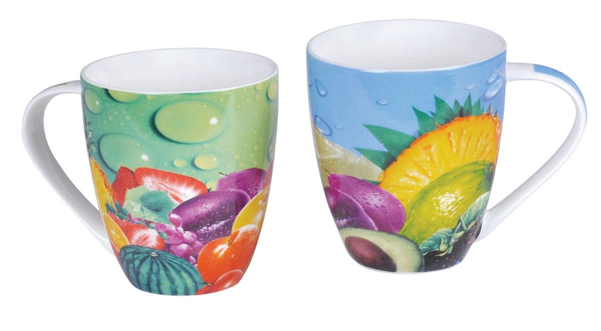 Bohmann набор чайных кружек ВНР-321, 2 предмета (дизайн фрукты)321ВНРНабор фарфоровых чайных кружек (дизайн фрукты). 2 предмета - чашки (480мл). фарфор