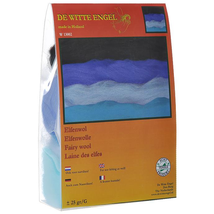 Набор шерсти De Witte Engel для мокрого валяния, 4 мотка. W13002W13002Набор De Witte Engel включает 4 шерстяных мотка различных цветов в сине-пурпурных оттенках. Шерсть самого высокого качества, с которой вам будет приятно и легко работать. Валяние шерсти - это особая техника рукоделия, в процессе которой из шерсти для валяния создается рисунок на ткани или войлоке, объемные игрушки, панно, декоративные элементы, предметы одежды или аксессуары. Только натуральная шерсть обладает способностью сваливаться или свойлачиваться.