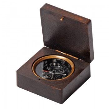 Компас в деревянной коробке Экспедиция