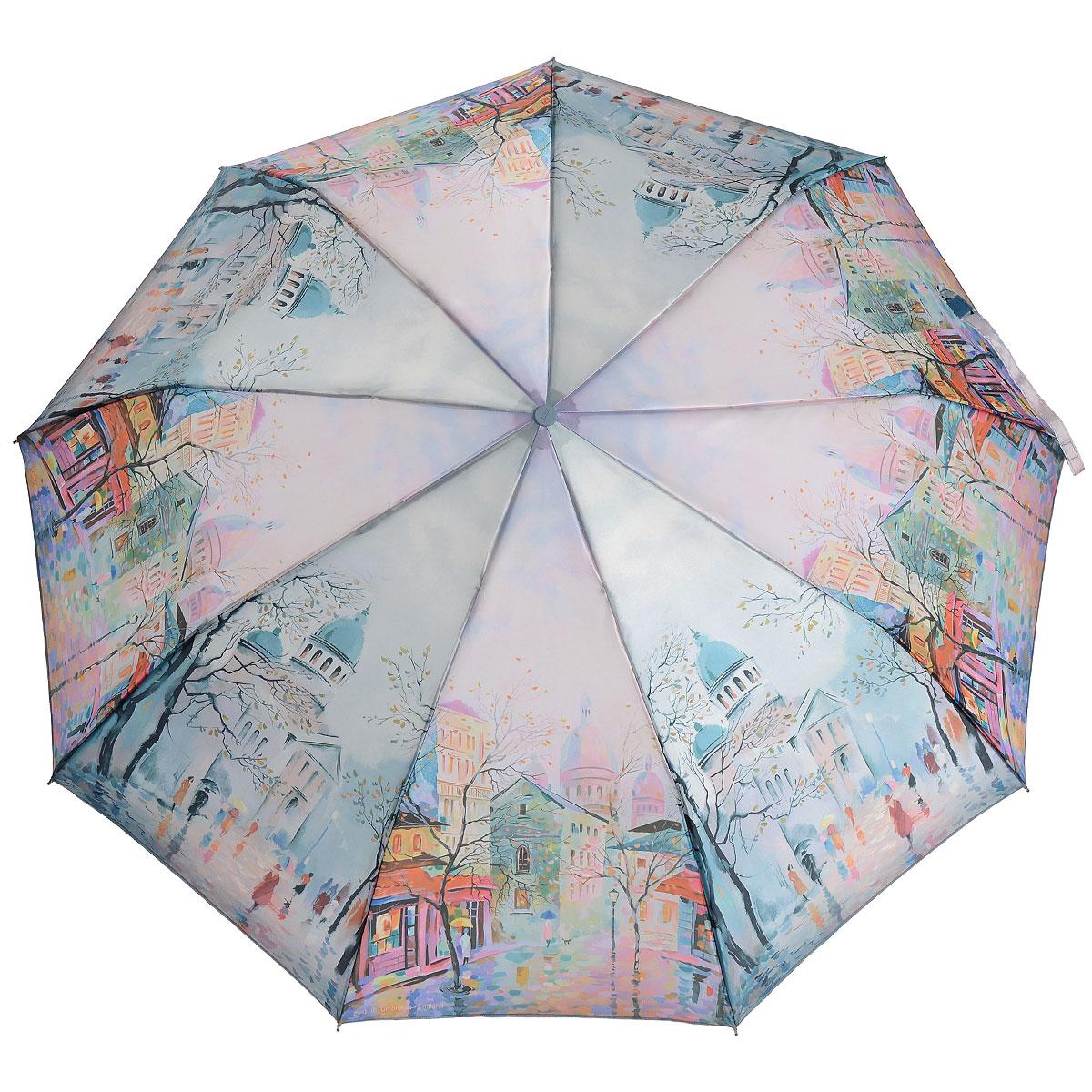 Зонт Zest, автомат, 3 сложения, цвет: розовый, зеленый. 239444-52239444-52Стильный автоматический зонт Zest в 3 сложения, даже в ненастную погоду позволит Вам оставаться стильной и элегантной. Детали каркаса изготовлены из высокопрочных материалов с покрытием, исключающим коррозию. Рукоятка разработана с учетом требований эргономики и выполнена из пластика. Зонт имеет полный автоматический механизм сложения: купол открывается и закрывается нажатием кнопки на рукоятке, стержень складывается вручную до характерного щелчка, благодаря чему открыть и закрыть зонт можно одной рукой, что чрезвычайно удобно при входе в транспорт или помещение. Специальная система защищает зонт от поломок при сильном ветре. Купол зонта выполнен из прочного полиэстера розового и зеленого цветов и оформлен оригинальным рисунком. Стойкие красители и пропитка ткани купола обеспечивают длительное сохранение свойств зонта. На рукоятке для удобства есть небольшой шнурок, позволяющий надеть зонт на руку тогда, когда это будет необходимо. Компактные размеры...