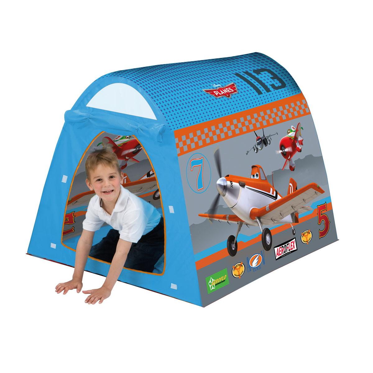 Палатка Самолеты, 120 см х 100 см х 90 см75507WDДетская игровая палатка Самолеты идеально подойдет для детских игр, как на улице, так и в помещении. Она имеет один вход. Палатка изготовлена из легкого нейлона ярких цветов. Каркас палатки поддерживается при помощи пластиковых прутьев. Благодаря своей легкости и компактным размерам в сложенном виде палатку легко перевозить и хранить. Ваш ребенок с удовольствием будет играть в такой палатке, придумывая различные истории. Учеными давно подмечен факт, что ребенок чувствует себя психологически более защищенным, находясь под крышей, соответствующей его росту - именно поэтому дети очень любят лазить под стол, залезать в шкаф. В палатке Самолеты малыш будет чувствовать себя максимально уютно.